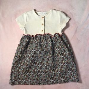 3-4 Years Old Zara Floral Dress Made in Portugal